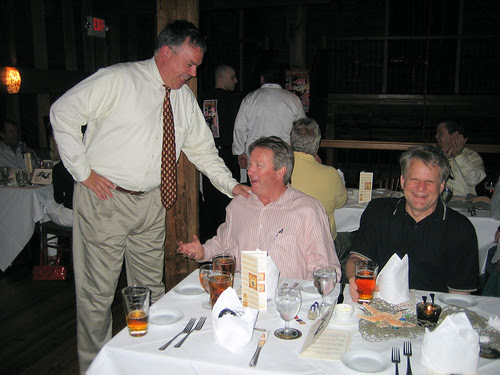 Mark Sedar (on left) at Magnolias Mill beer Dinner