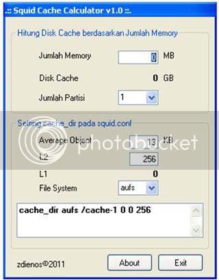 Aplikasi untuk Menghitung Cache Dir Squid Proxy Server