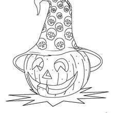 Coloriages Coloriage Dune Citrouille Avec Un Chapeau De Sorcière