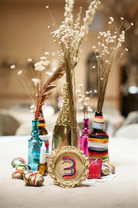 1000  images about Boho Chic Wedding Centerpieces on