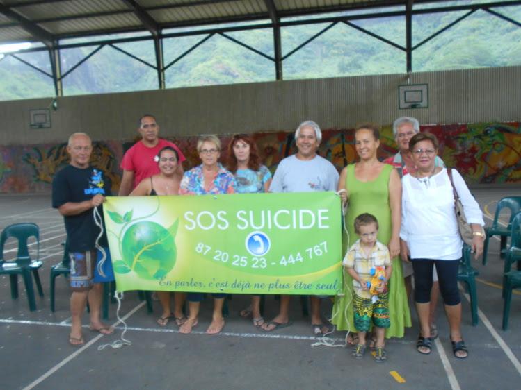 L'association SOS suicide a rencontré un public réduit Moorea