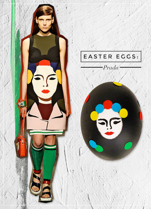 Le Fashion Blog DIY Inspiration Fashion Inspired Easter Eggs Via Style Caster Prada Chic Style Holiday Decor Ideas Face Girl Print Dress Serena Abraham Tinsel & Twine  2 photo Le-Fashion-Blog-DIY-Inspiration-Fashion-Inspired-Easter-Eggs-Via-Style-Caster-Prada-2.png
