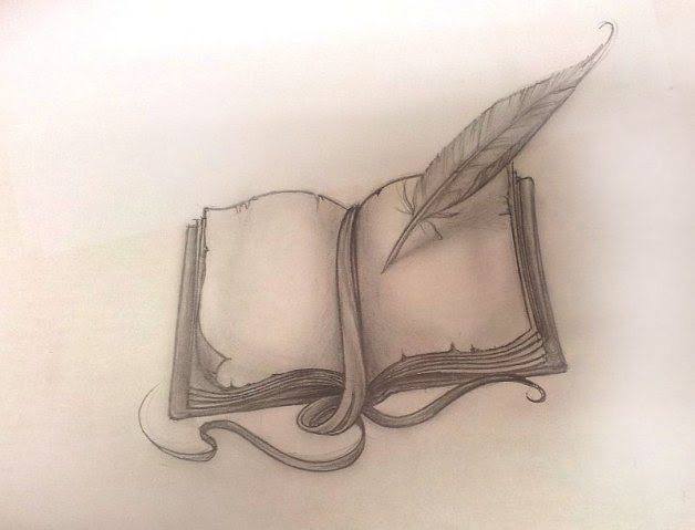 I like the idea of the whole scene coming out of the pages of a book