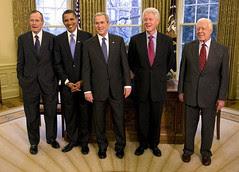 2009 Five Presidents, President George W. Bush...