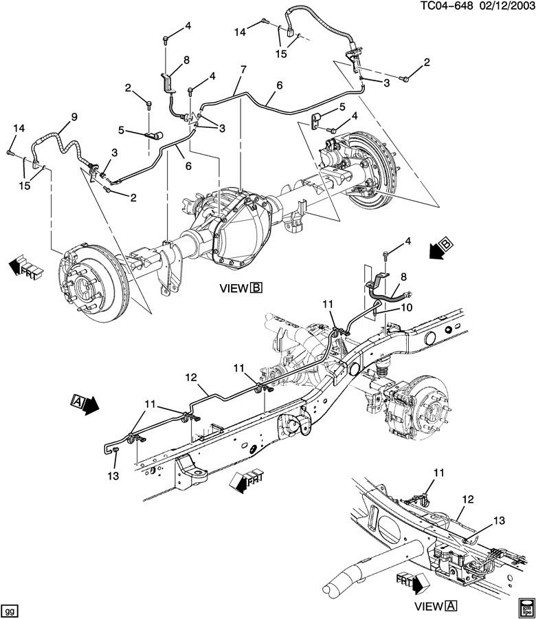 2003 chevy s10 rear brakes diagram