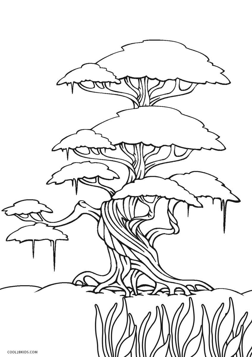 Free Printable Tree Coloring Pages For Kids | Cool2bKids