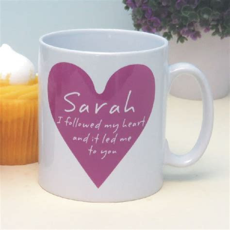 I Followed My Heart Personalised Romantic Mug   Customised