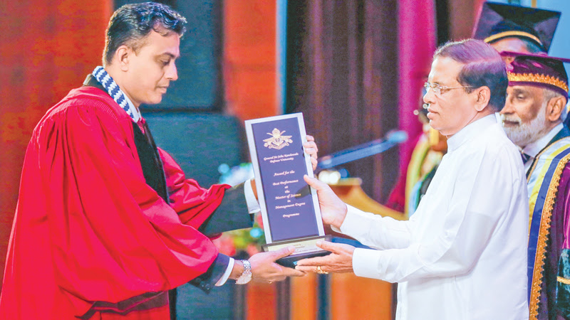 The General Convocation 2017 of Kotelawala Defence University