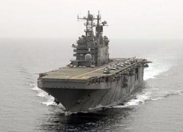 Kapal AS di Teluk Persia, Iran Waspada