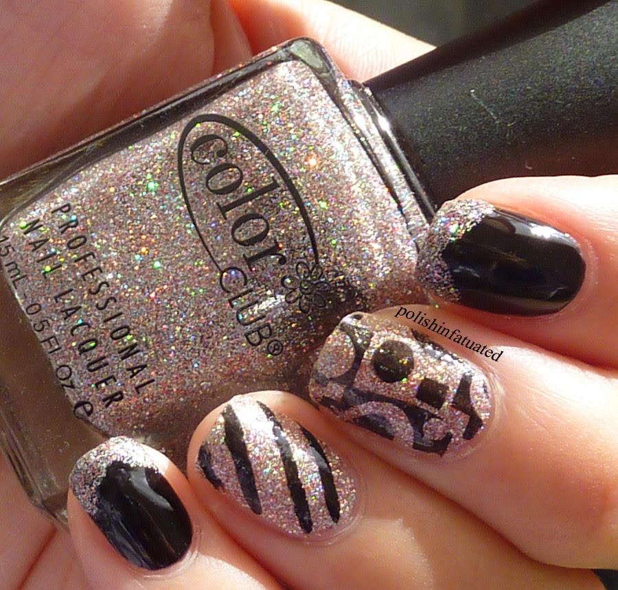 black, glitter & stamping2