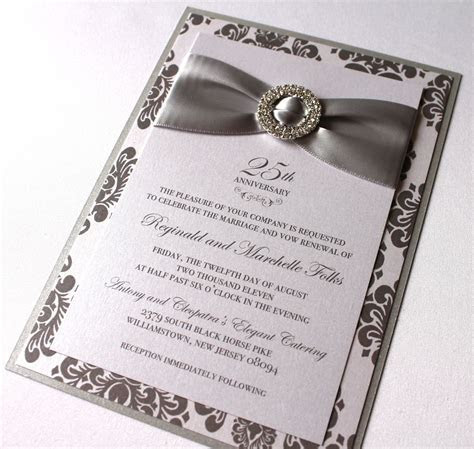Embellished Paperie: 25th Anniversary Invitations, Silver