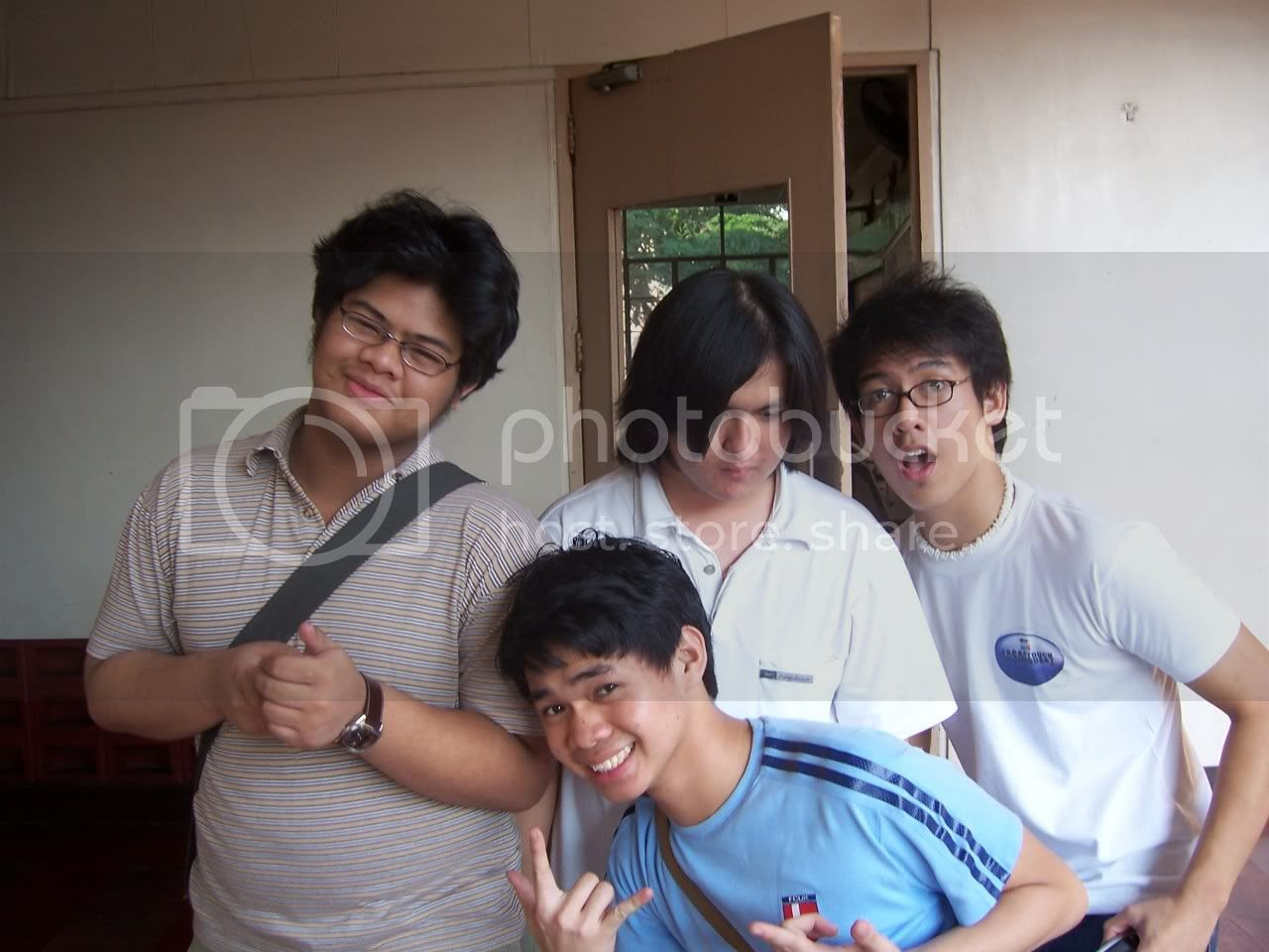 Sudoy, Jino, Huey and Nico before we left the campus for the shoot. Image hosted by Photobucket