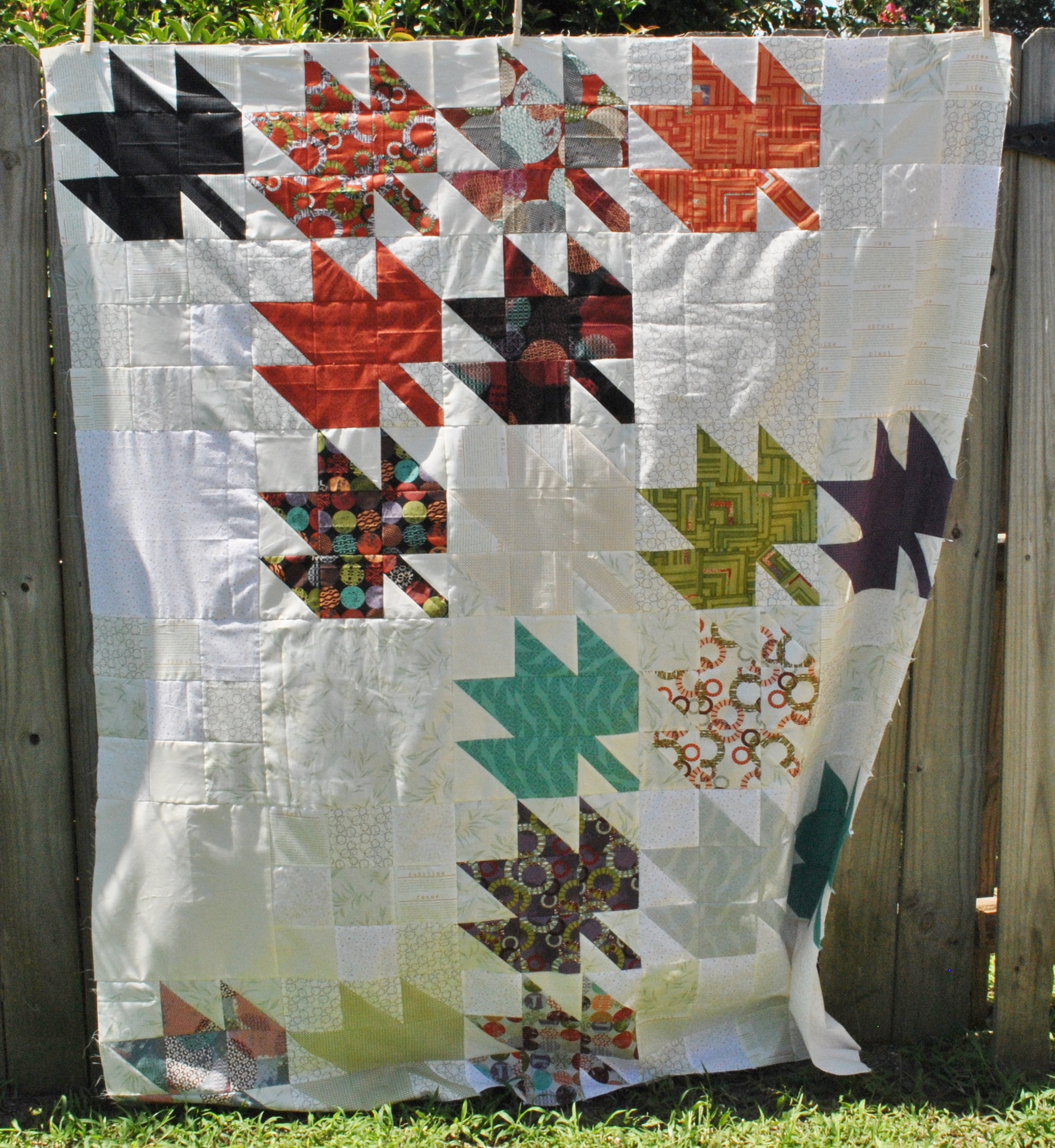 Modern Maples Quilt Top Finished #ECMQG