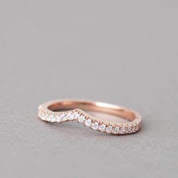 TIARA CURVED STACKABLE V RING ROSE GOLD from zibbet.com