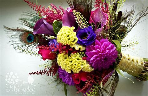 peacock flower bouquets   Bing Images   ENtirely PEACOCK