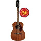 Fender Tim Armstrong Hellcat-12 12-String Acoustic-Electric Guitar with Gear Guardian Extended Warranty - Mahogany...