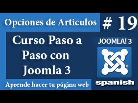 Opcines de los artículos en Joomla