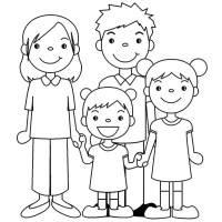 Famiglia Disegno Da Colorare Disegni Da Colorare