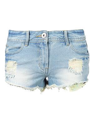 G21 Distressed Denim Shorts