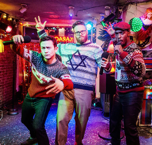 Joseph Gordon Levitt, Seth Rogen, and Anthony Mackie in The Night Before