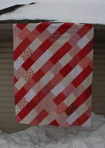 candy cane quilt top
