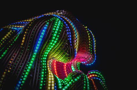 fotos gratis ligero noche linea color neon