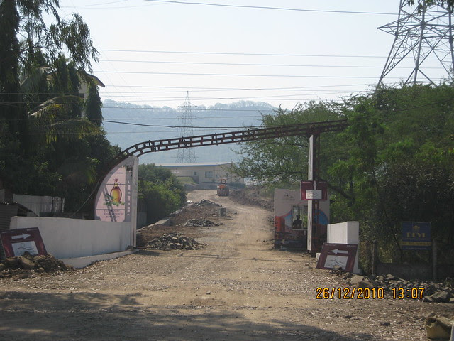 Entrance of Tata La Montana  - Mahavir Natura, almost Ready for Possession 1 BHK & 2 BHK Flats at Talegaon MIDC Junction on Old Mumbai Pune Highway (NH4) at Vadgaon Maval, Pune 412 106