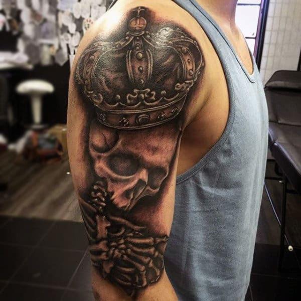 100 Crown Tattoos For Men Kingly Design Ideas