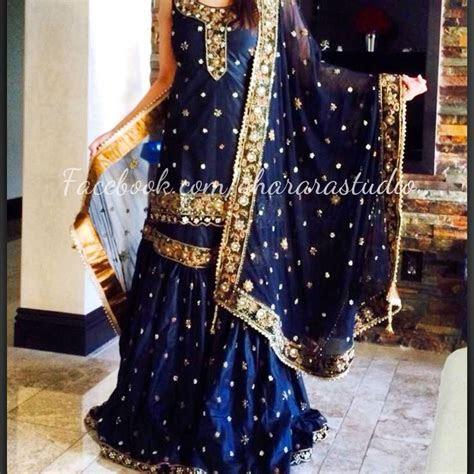 Black silk Gharara, order online and ready to wear Gharara