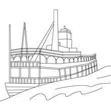 Dibujos Para Colorear Barco De Vapor Eshellokidscom