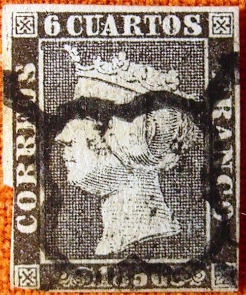File:Primer sello de España 2.JPG