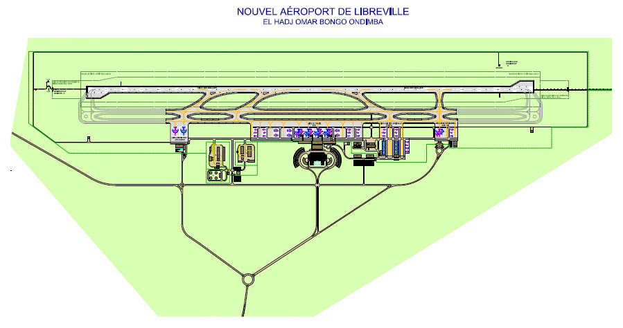 Proposed schematic for new Libreville International Airport