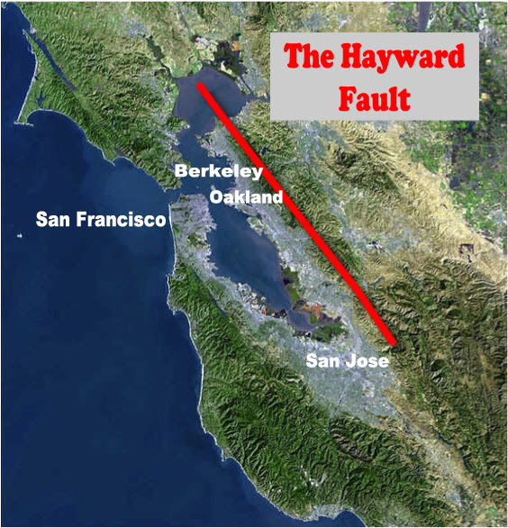 Image result for Hayward fault