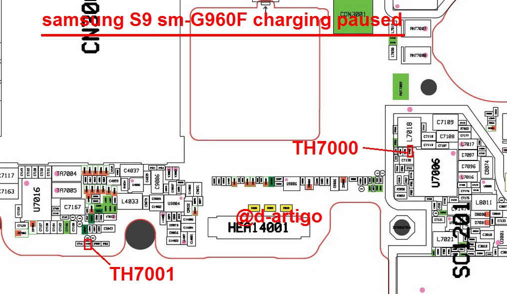 Samsung Galaxy S9 G960F Charging Paused Solution Jumpers