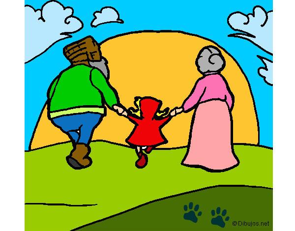 Dibujo De Caperucita Roja Con Su Abuela Pintado Por Bimba En Dibujos