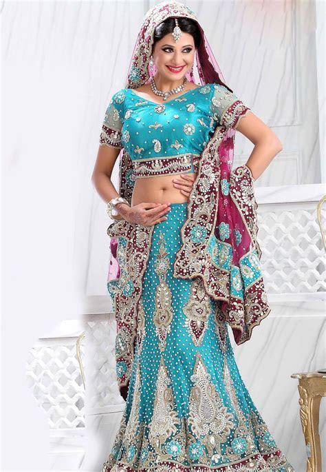 #Blue Net #Lehenga Choli   Designer Lehenga Choli   Blue