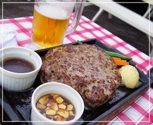 台場「1129 by ogawa」にて、メインはこれだよねのメガハンバーグ!どどーん!
