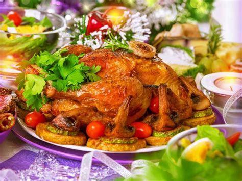 Fried chicken mushrooms garnish holiday wallpaper