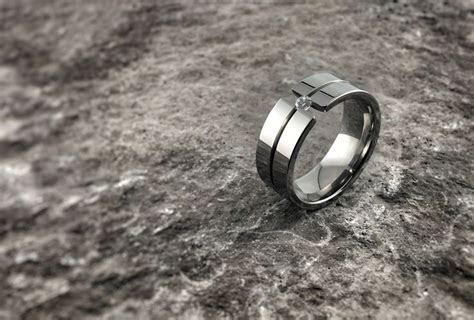 124 best Titanium Wedding Rings images on Pinterest