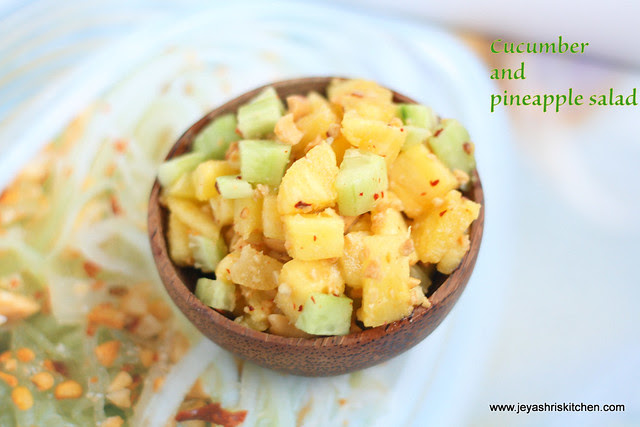 thai cucumber and pineapple salad 1