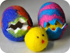 Wool Felted Easter Eggs