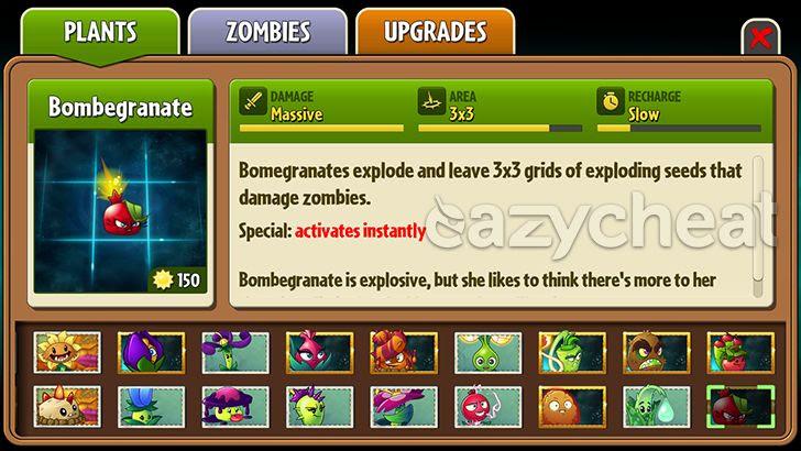 Plants Vs Zombies 2 v5.2.1 NA VERSION Cheats