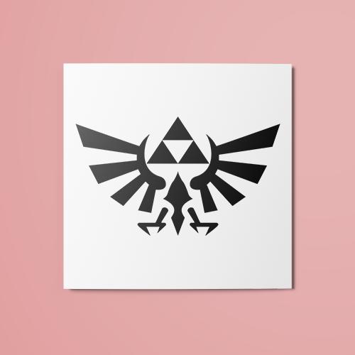 The Legend Of Zelda Triforce V2 Temporary Tattoo The Random Club