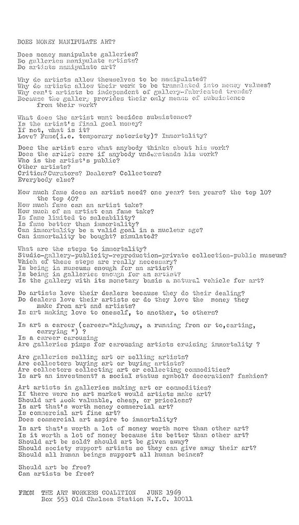 artist questions