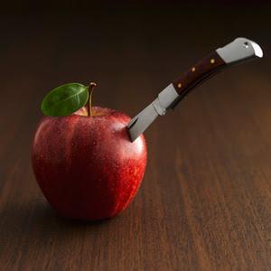 Historia de una Gran Manzana y un pequeño Croissant.