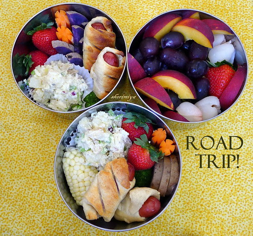Roadtrip Triple Bento by sherimiya ♥