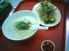 Yu Sheng and Pork Porridge
