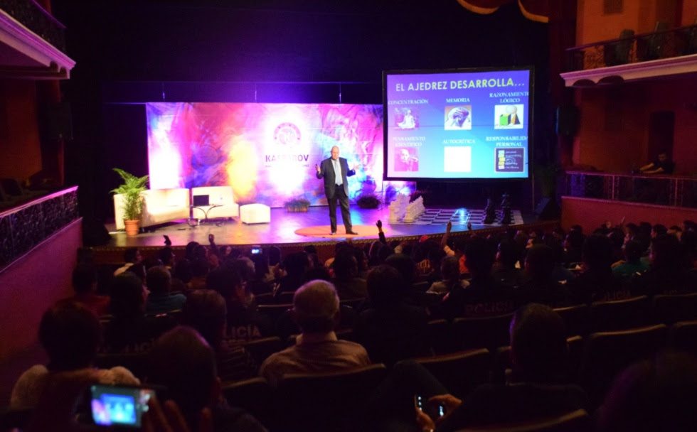 Vista general de un seminario de la Fundación Kaspárov en Ciudad de México, en octubre de 2014