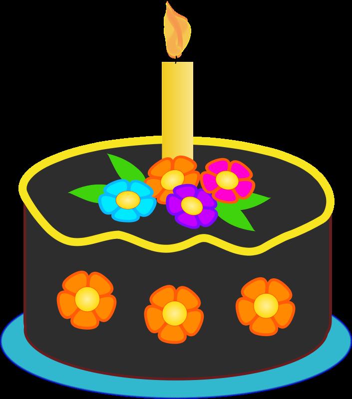 Christmas Birthday Cake Clip Art