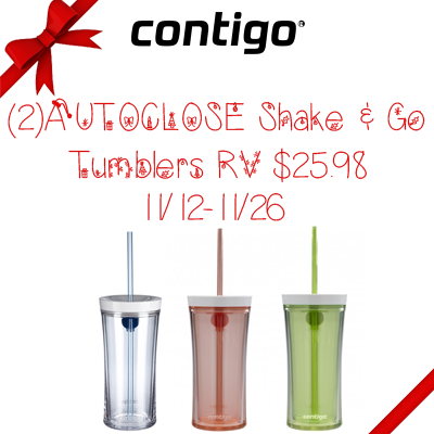 Contigo AUTOCLOSE Shake & Go Tumbler Giveaway. Ends 11/26